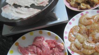 IMG 0004 320x180 - 豚ロース肉とスプリングラムの焼肉をボタン海老のお刺身と共に