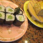 IMG 0116 150x150 - 乙部産ひらめのあら汁とアスパラの巻き寿司 / 回転寿司根室花まる