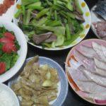 IMG 0132 150x150 - 鶏皮のにんにく塊炒めにブリしゃぶとアジのタタキとシメサバ