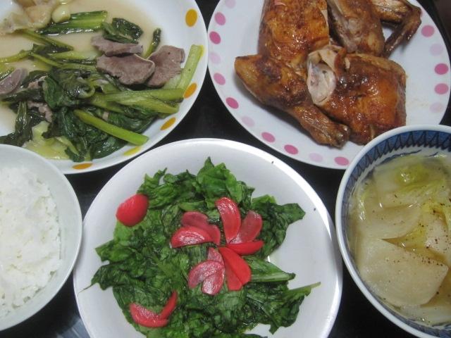 IMG 0137 - カブのコンソメスープ煮とポールズなチキンと昨日の残り物