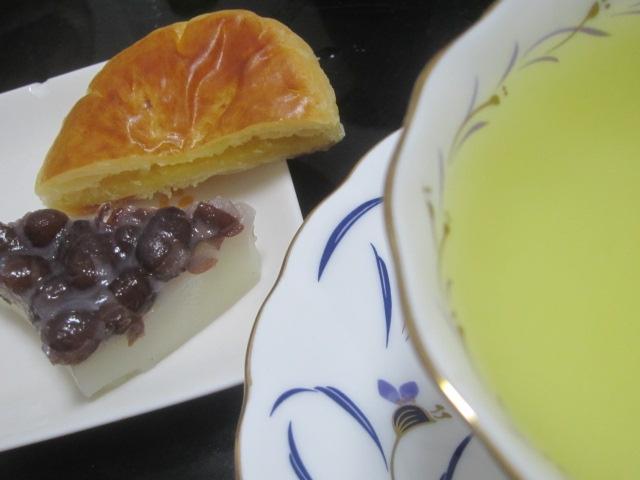 IMG 0016 - 新茶の第二段購入して水無月とうすあわせれもんを頂きました