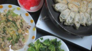 IMG 0036 320x180 - えび餃子に豚と卵の小松菜入り中華風炒め