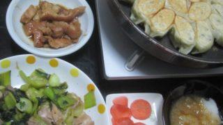 IMG 0019 320x180 - 豚&鶏を青梗菜で炒めて自宅栽培な紫蘇入り餃子と共に晩御飯
