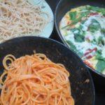 IMG 0091 150x150 - ペペロンチーノと伊勢海老ソースなパスタに自宅ピザの組み合わせ