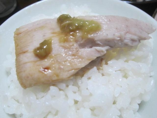 IMG 0002 - ブリカマとブリ刺身とイカ焼きと豚レバー焼き