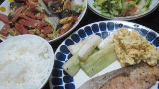 IMG 0071 320x180 - ネギ焼きとハム野菜炒めとシャケのムニエル