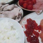 IMG 0074 150x150 - 豚の冷しゃぶと生ハムトマトの残りに魚卵な筋子たらこ