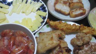 IMG 0092 320x180 - ボタン海老と鶏の揚げ物各種にチーズとパンロール