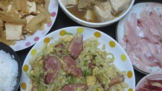 IMG 0007 320x180 - キャベツの千切りを卵と鴨肉とで炒めて胡椒を上からたっぷりと