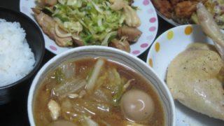 IMG 0021 320x180 - 鍋の残りのよくわからない汁物とレタス&鶏肉の炒め物