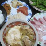 IMG 0025 150x150 - 鍋の残り汁と鶏レタスの炒め物が合体してポーチドエッグが投入されました