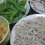 IMG 0085 150x150 - 蕎麦と豚しゃぶと残り物野菜スープに枝豆