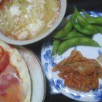 IMG 0098 150x150 - 刻んだトマトと生ハム載せた自宅ピザに残り物スープIN卵と漬物