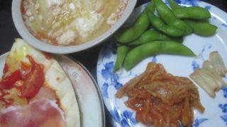 IMG 0098 320x180 - 刻んだトマトと生ハム乗せた自宅ピザに残り物スープIN卵と漬物