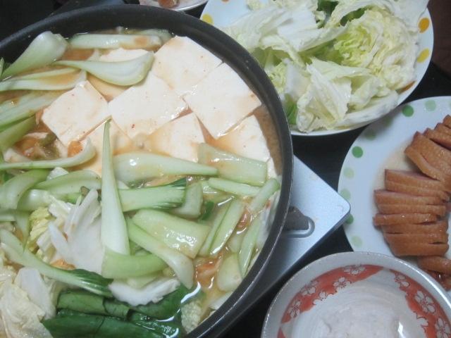 IMG 0111 - 白菜&青梗菜のしゃくしゃく野菜鍋