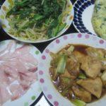 IMG 0119 150x150 - 鶏胸肉とネギ焼き炒めともやし小松菜炒めとほうれん草オムレツ