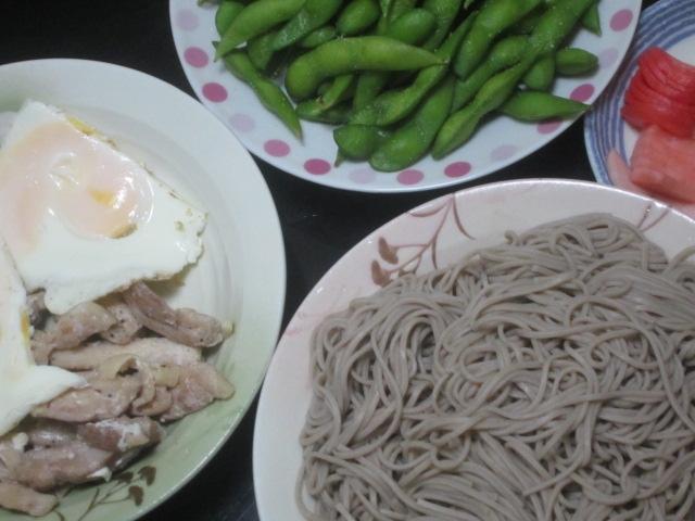 IMG 0006 - 江丹別な蕎麦と目玉焼きと枝豆と山芋の漬物