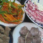 IMG 0011 150x150 - ニンジンとピーマンの炒め物に豚タン&レバーと生ハムチーズ