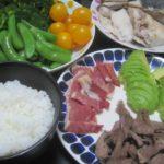 IMG 0039 150x150 - カンパチのアラの塩焼きと豚ハツ焼きにアボガドの刺身を山葵醤油で