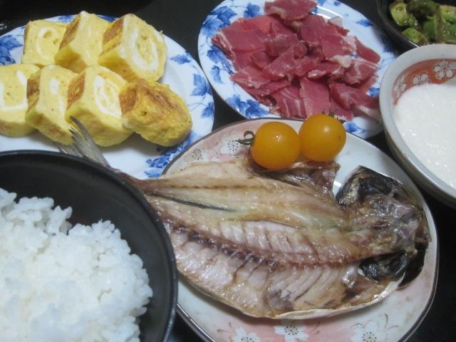 IMG 0041 - アジの開きと摩り下ろした山芋で和食風味な晩御飯