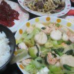 IMG 0042 150x150 - ホタテとエビの青梗菜炒めに豚タンのもやし炒めと筋子のアクセント
