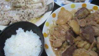 IMG 0016 320x180 - ヒラメの酒蒸しと豚タン&鶏モノ肉のキャベツ炒め