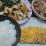 IMG 0064 150x150 - 肉豆腐とタマネギオムレツと厚揚げ豆腐の寒締めほうれん草炒め
