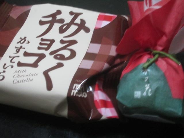 IMG 0074 - 「みるくチョコかすていら」と名前読み取れないけど前にも食べたアレ:椿の花