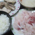 IMG 0076 150x150 - カンパチのアラから切り出した刺身と残り部分の塩焼き晩御飯