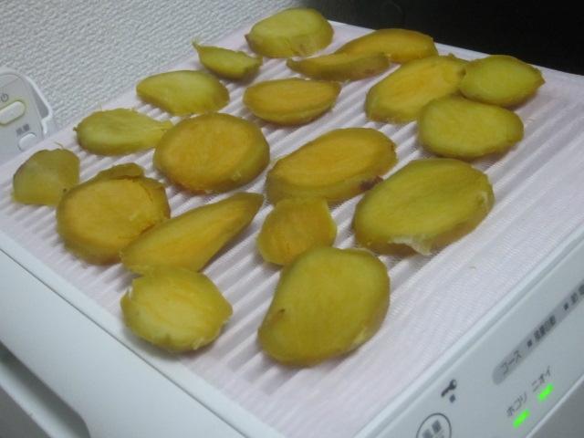 IMG 0004 - 安納芋が安く売ってたのでふかして切って乾かした時の推移画像紹介