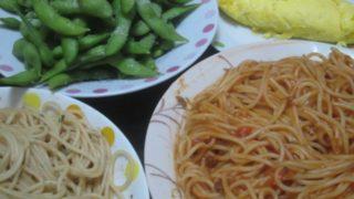 IMG 0021 320x180 - トマト系+ペペロン系な2種のパスタと枝豆おオムレツ