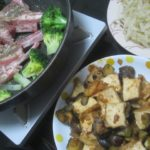 IMG 0032 150x150 - ラムチョップとブロッコリーの蒸し焼きにナスと揚げ豆腐炒め