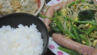IMG 0041 320x180 - 餃子の残りと豆もやしほうれん草炒めINレモンパセリソーセージ
