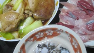 IMG 0053 320x180 - ネギたっぷりの鶏モモ肉の照り焼きにカキとブリ