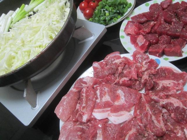 IMG 0039 - 溢れるラムと牛肉でのネギキャベツ焼肉