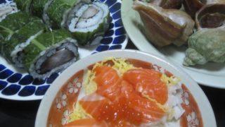 IMG 0030 320x180 - 稚内産の大きな青ツブ貝(ヒメエゾボラ)の酒蒸しと鯖寿司