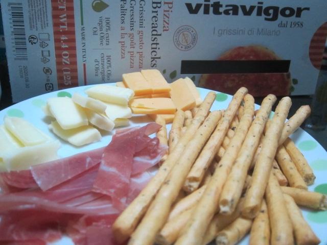 IMG 0040 - ピザと生ハムとチーズとグリッシーニの酒盛りご飯