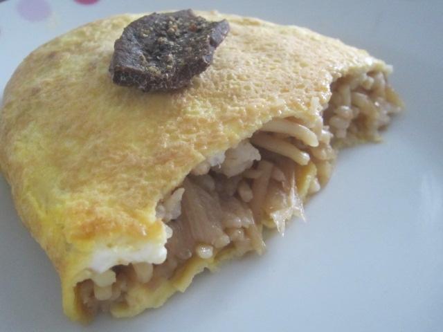 IMG 0060 - ジンギスカンの残り汁で作った焼きそばで作るオムソバな朝食