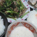 IMG 0005 150x150 - 小松菜と豚肉の炒め物にオイルサーディンとネバリスター