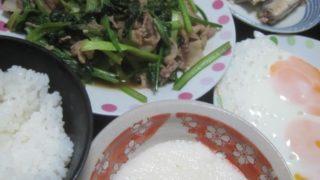 IMG 0005 320x180 - 小松菜と豚肉の炒め物にオイルサーディンとネバリスター