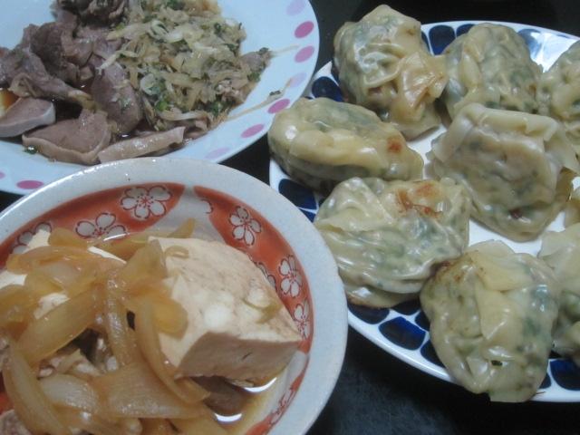 IMG 0019 - 肉豆腐と餃子と昨日の残りのジンギスカン野菜炒め