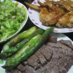 IMG 0025 150x150 - 牛モモステーキと手羽先の照り焼きとアスパラ焼き