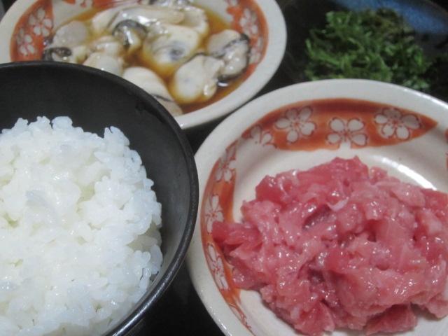 IMG 0039 - 和歌山の畜養マグロの中落ちとサロマ湖の生カキご飯