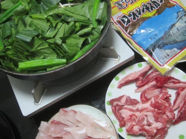 IMG 0065 - ほうれん草とオクラを下敷きにした生肉&漬け肉なジンギスカン