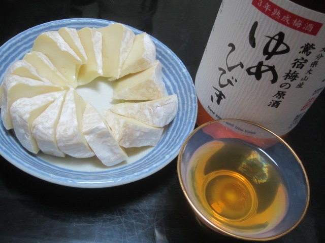 IMG 0088 - 鶏肉の豆もやし炒めと蕎麦を食べて梅酒とチーズで酒盛り