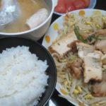 IMG 0092 150x150 - カンパチのカマとアラの味噌汁にしてもやし炒めに厚揚げ豆腐鶏肉を投入
