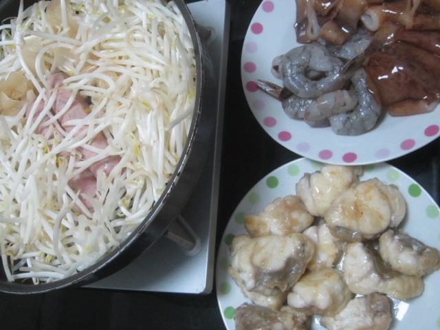 IMG 0169 - お肉の焼肉と海鮮な焼肉とアンコウのから揚げ