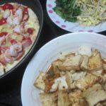 IMG 0200 150x150 - エビとソーセージのピザにイカと厚揚げ豆腐のピリ辛炒めといちご大福