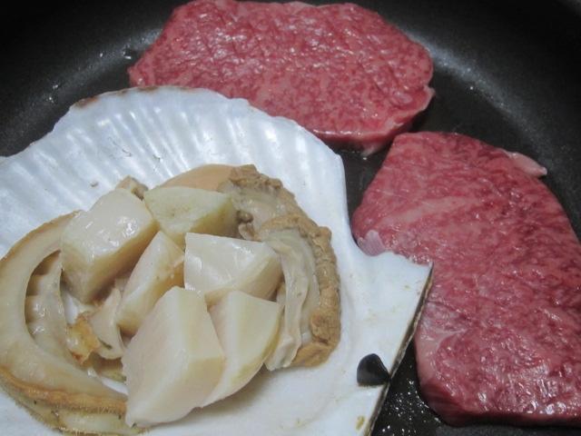 IMG 0239 - 美味しそうなA5飛騨牛が売ってたのでホタテと一緒に焼いてみた