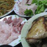 IMG 0256 150x150 - 丸鶏の丸焼きとブリカマの刺身と焼きそばと冷しゃぶサラダ